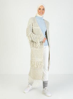 Ecru - Ecru - Unlined - Ecru - Unlined - Knit Cardigans