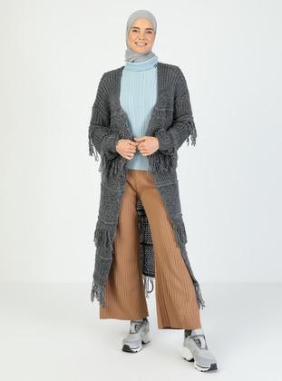 Gray - Gray - Unlined - Gray - Unlined - Knit Cardigans