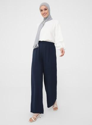 Navy Blue - Culottes - Woman