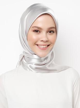 Silver tone - Plain - Scarf