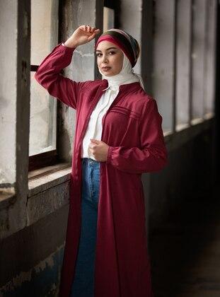 Ribbed Abaya - Dusty Rose