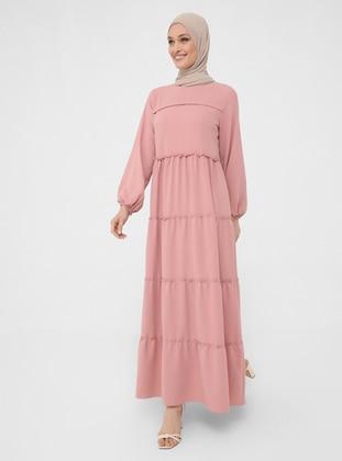 Powder - Crew neck - Unlined - Modest Dress - Woman