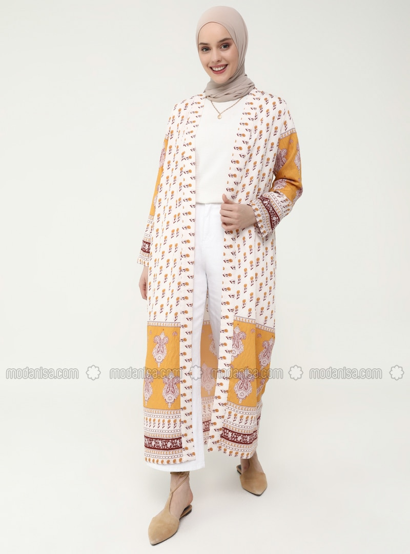 Border Pattern Dress / Cape Set - Bambu - Casual