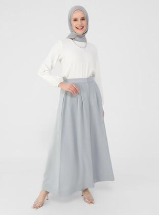 Gray - Blue - Culottes - Refka