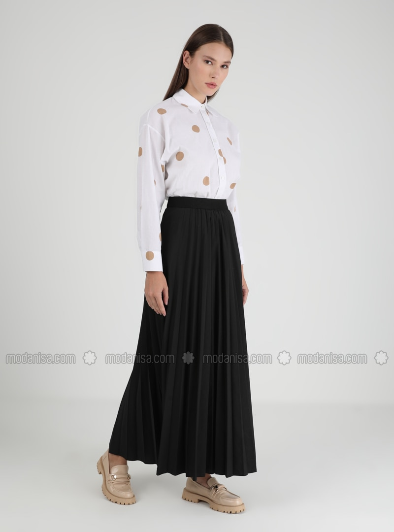 Black - Unlined - Skirt - Casual