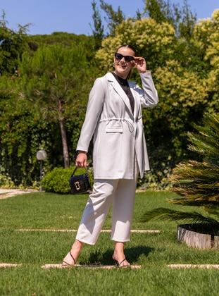 White - Black - Stripe - Shawl Collar - Unlined - Plus Size Jacket