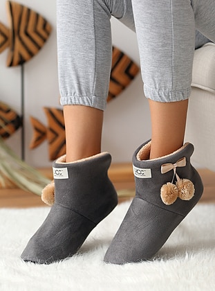 Gray - Casual - Gray - Home Shoes