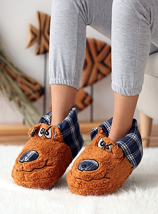 Casual - Navy Blue - Tan - Home Shoes