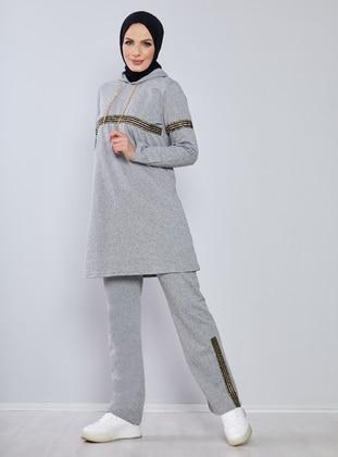 Gray - Gray - Tracksuit Set