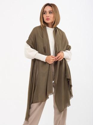 Khaki - Printed - Shawl Wrap