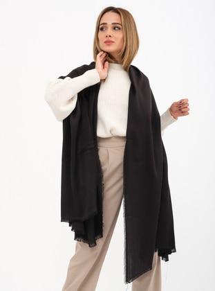 Black - Printed - Shawl Wrap - Mirach