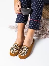 Sandal - Leopard - Tan - Home Shoes