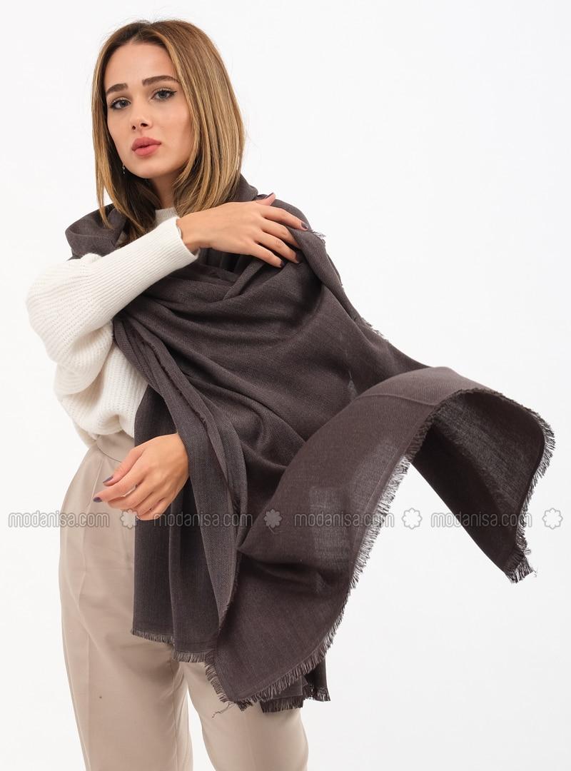 Anthracite - Printed - Shawl Wrap