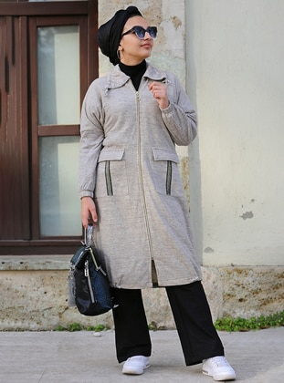 Cream - Point Collar - Topcoat