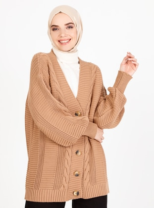Caramel - Unlined - Knit Cardigans