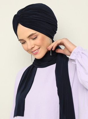 Navy Blue - Instant Scarf