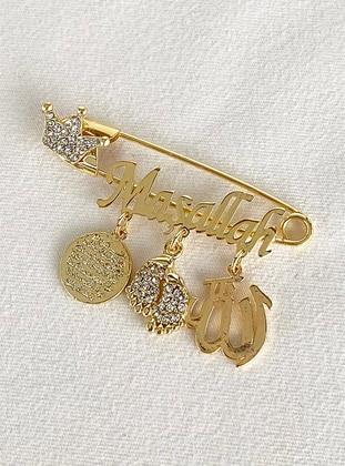 Gold - Brooch - Takıştır Bijuteri