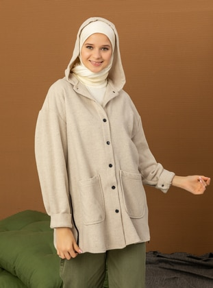 Beige - Beige - Coat