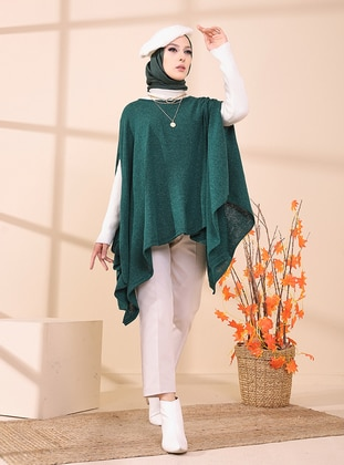Emerald - Unlined - Knit Ponchos - Tofisa