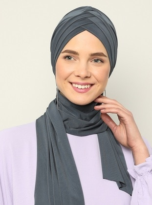 Anthracite - Plain - Instant Scarf