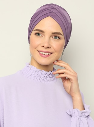 Lilac - Plain - Instant Scarf
