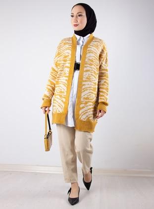 Mustard - Zebra - Unlined - Knit Cardigans