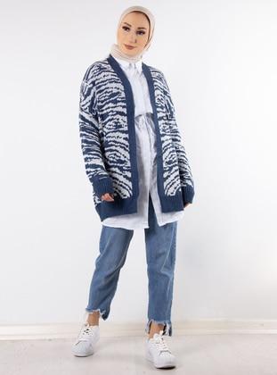 Indigo - Zebra - Unlined - Knit Cardigans
