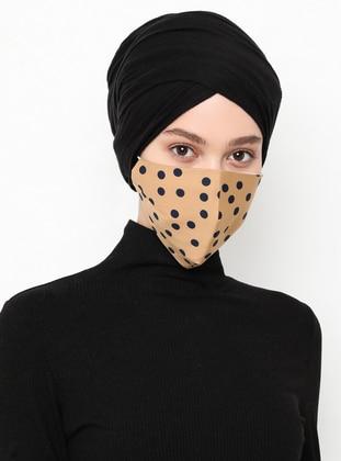 Multi - Beige - Navy Blue - Mask