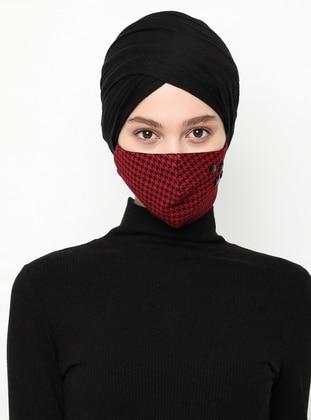 Multi - Maroon - Black - Mask
