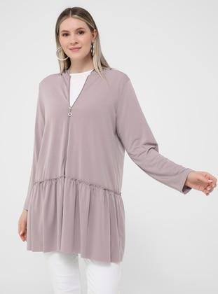 Lilac - Unlined - Plus Size Coat