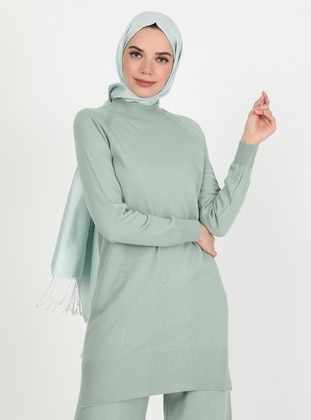 Green Almond - Polo neck - Unlined - Knit Tunics