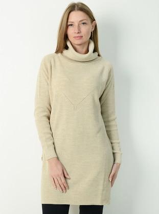 Stone - Polo neck - Unlined - Knit Tunics