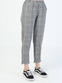 Navy Blue - Stripe - Pants