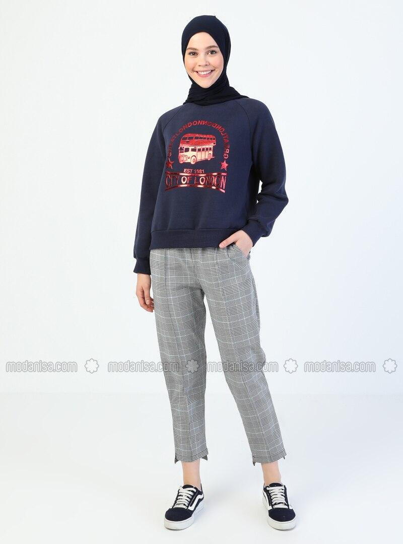 Blue - Stripe - Pants