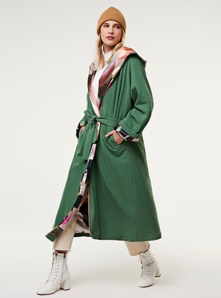 Green - Multi - Fully Lined - Coat