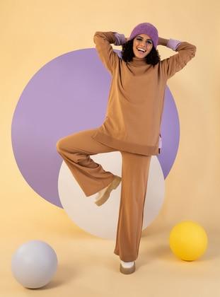 Camel - Unlined - Knit Suits