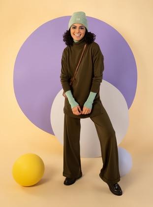 Khaki - Unlined - Knit Suits