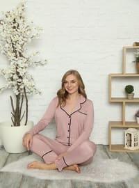 Shawl Collar - V neck Collar - Pyjama Set