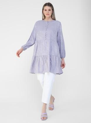 Lilac - Crew neck - Plus Size Tunic