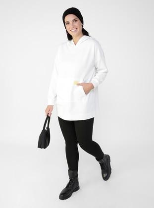 Oversize High Waist Molder Knitted Tight - Black