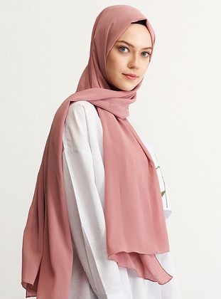 Pink - Plain - Shawl