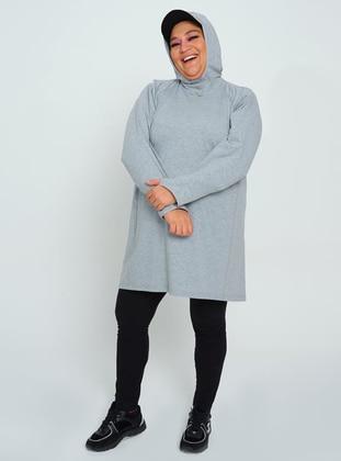 Gray - Plus Size Sweatshirts