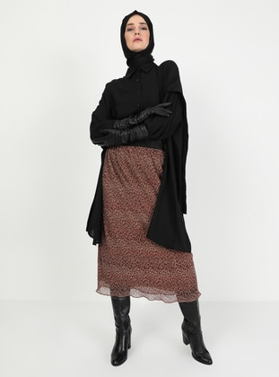Mink - Silvery - Fully Lined - Skirt