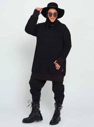 Black - Plus Size Sweatshirts
