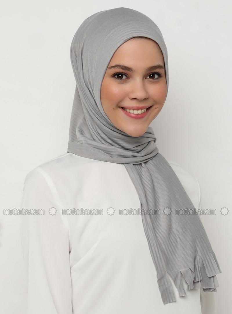 Gray - Plain - Shawl
