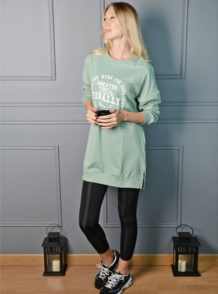 Crew neck - Mint - Sweat-shirt