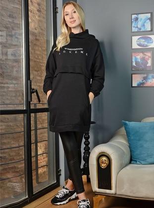 Polo neck - Black - Sweat-shirt