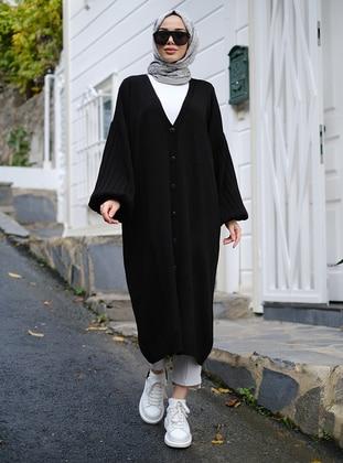 Black - Unlined - Knit Cardigans - Neways