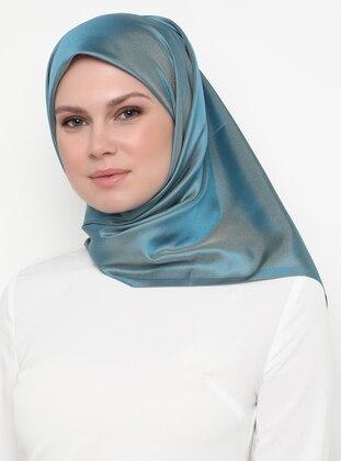 Gold - Blue - Plain - Scarf