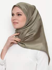 Gold - Olive Green - Plain - Scarf